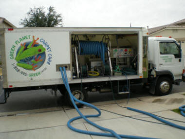 The Big Tile Cleaning Truck with Hoses Picture