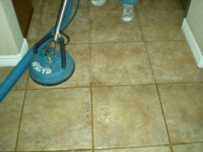 Picture of Tile Cleaning Machine in Action